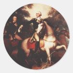 Washington antes de Yorktown de Rembrandt Peale Pegatina Redonda