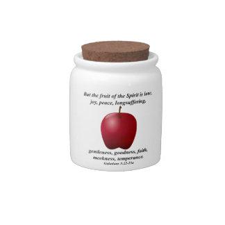 Washington Apple Bible Verse Summer Fruit Cookie Candy Dish