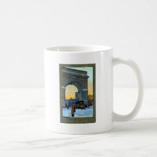 Washington Arch at Winter Twilight Coffee Mug