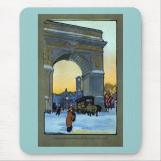 Washington Arch at Winter Twilight Mouse Pad