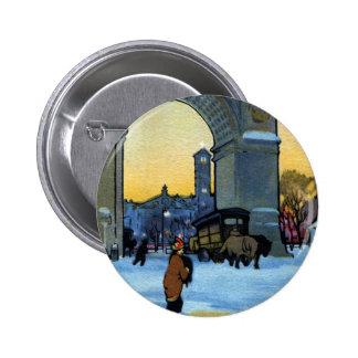 Washington Arch at Winter Twilight Pins