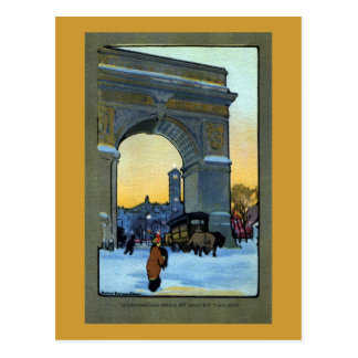 Washington Arch at Winter Twilight Postcard