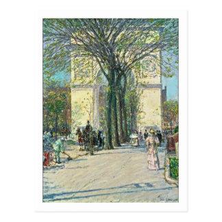 Washington Arch New York by Childe Hassam Postcard