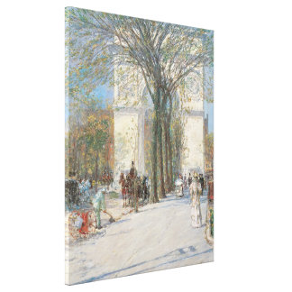 Washington Arch, Spring by Childe Hassam Canvas Print