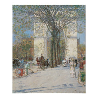 Washington Arch, Spring by Childe Hassam Poster