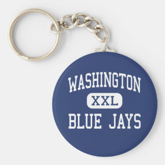 Washington - arrendajos azules - joven - Washingto Llavero Redondo Tipo Pin