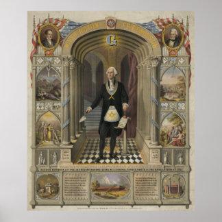 Washington as a freemason [1867] poster