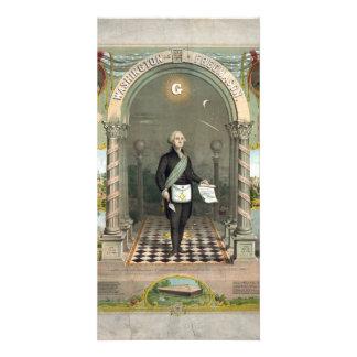"""Washington as  a Freemason"" photo cards"