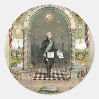 """Washington as  a Freemason"" stickers"