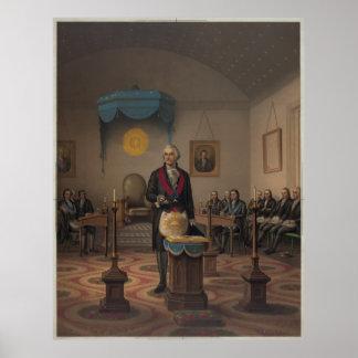 Washington as a master Mason [1870] Poster