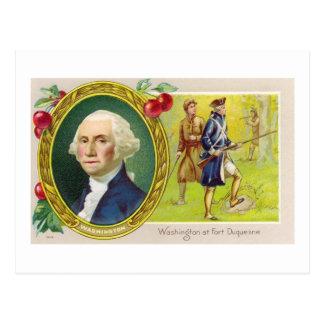 Washington At Fort Duquesne Postcard
