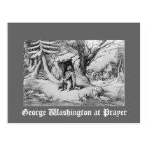 Washington at Prayer Postcard