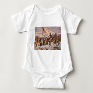 Washington at Valley Forge by Edward P. Moran Baby Bodysuit