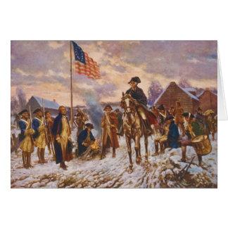 Washington at Valley Forge by Edward P. Moran Card
