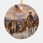 Washington at Valley Forge by Edward P. Moran Ceramic Ornament