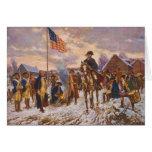 Washington at Valley Forge by Edward P. Moran Greeting Card