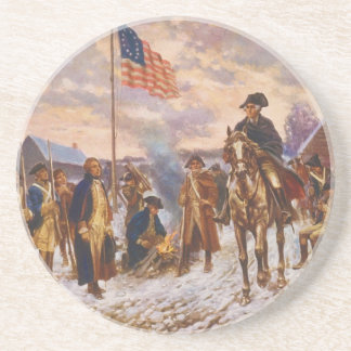 Washington at Valley Forge by Edward P. Moran Sandstone Coaster