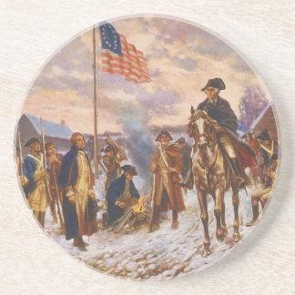 Washington at Valley Forge by Edward P. Moran Sandstone Coaster