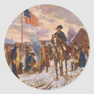 Washington at Valley Forge by Edward P. Moran Stickers