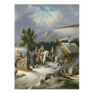 Washington At Valley Forge Postcard