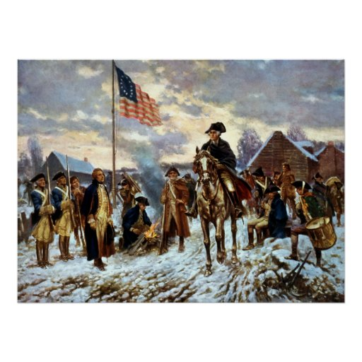 Washington at Valley Forge Posters