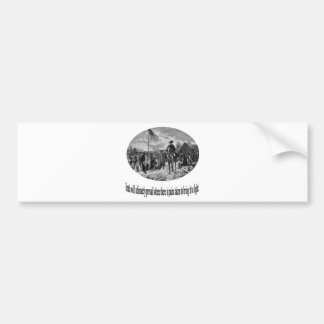 Washington at Valley Forge with Quote Bumper Stickers