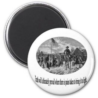 Washington at Valley Forge with Quote 2 Inch Round Magnet