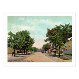 Washington Ave., Belleville, New Jersey Vintage Postcard