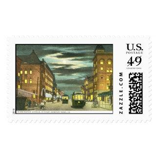 Washington Ave, Newport News VA Vintage Stamps