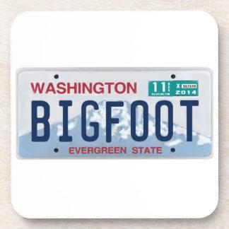 Washington Bigfoot License Plate Drink Coasters