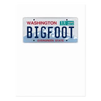 Washington Bigfoot License Plate Postcards