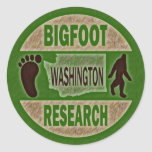 Washington Bigfoot Research Round Sticker
