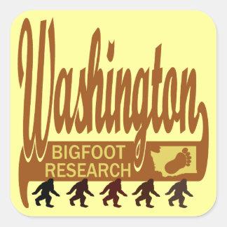 Washington Bigfoot Research Square Sticker