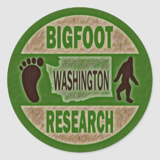 Washington Bigfoot Research Classic Round Sticker