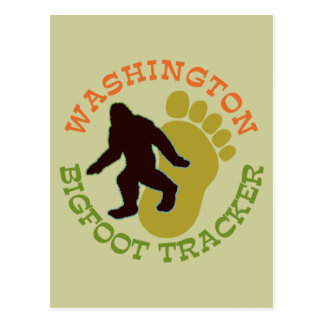 Washington Bigfoot Tracker Postcard