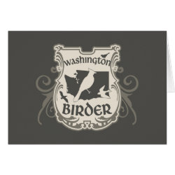 Greeting Card with Washington Birder design