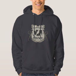Men's Basic Hooded Sweatshirt with Washington Birder design