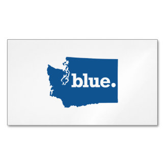 WASHINGTON BLUE STATE MAGNETIC BUSINESS CARD