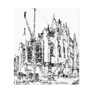Washington Cathedral Construction 1923 Stretched Canvas Prints