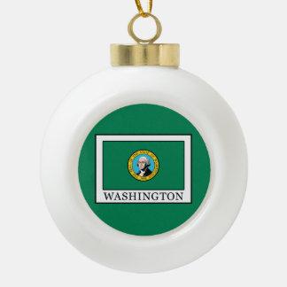 Washington Ceramic Ball Christmas Ornament