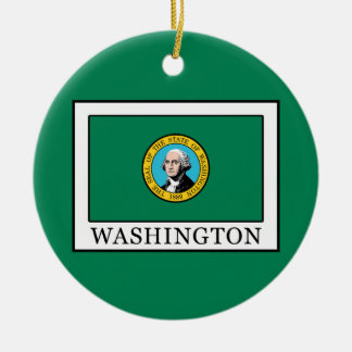 Washington Ceramic Ornament