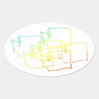 washington chill blur oval sticker