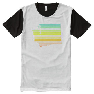 washington chill fade All-Over print t-shirt