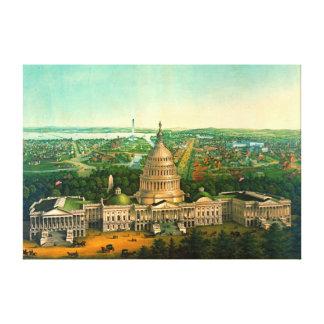 Washington City 1869 Canvas Print