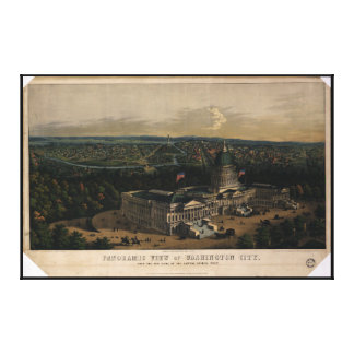 Washington City Dome of the U.S. Capitol (1856) Canvas Print