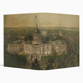 Washington City from New Dome of the Capitol 1857 3 Ring Binder