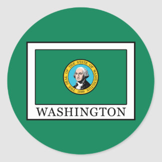 Washington Classic Round Sticker