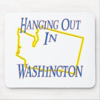 Washington - colgando hacia fuera mouse pads