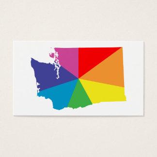washington color burst business card