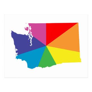 washington color burst postcard